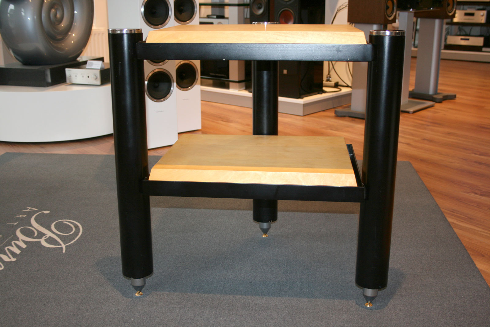 copulare high end hifi rack mit 2 ebenen ebay. Black Bedroom Furniture Sets. Home Design Ideas